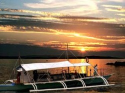 Sunset Cruise in boat at Cebu